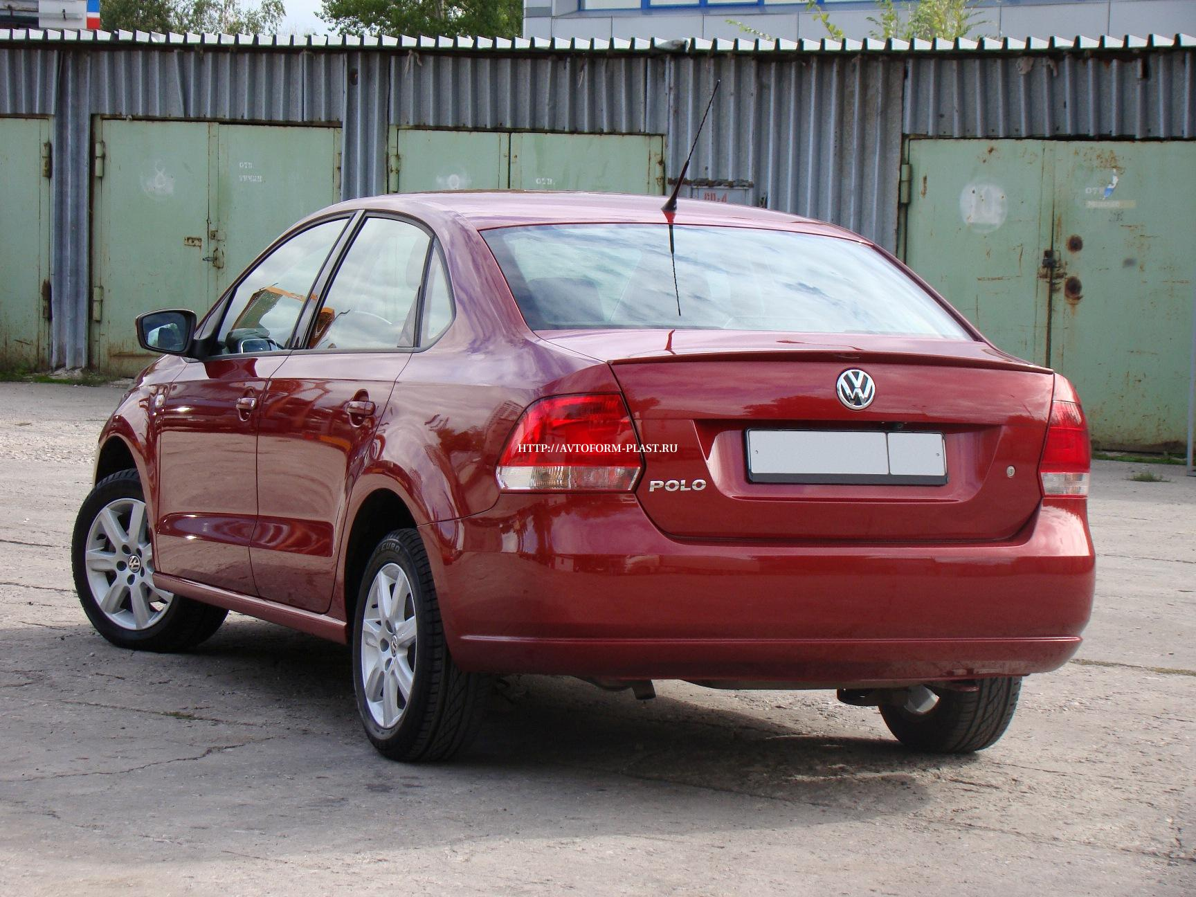 Лип спойлер Volkswagen Polo Sedan